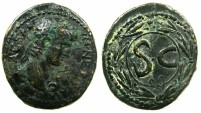 Ancient Coins - SYRIA.SELEUCIS AND PIERIA.ANTIOCH.Nero AD 54-68.AE.26mm.