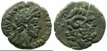 Ancient Coins - EGYPT.ALEXANDRIA.Commodus Sole reign AD 180-192.Billon Tetradrachm, struck AD 183/184.~#~.Bust of Zeus Ammon.