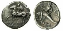 Ancient Coins - CALABRIA.TARENTUM.Circa 272-240BC.AR.Nonos ( didrachm ).