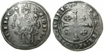 World Coins - CRUSADER STATES.CYPRUS.Henry II 2nd reign 1310-1324.AR.Gros.Series 3.~~~Three lys in field. Extremely Rare.