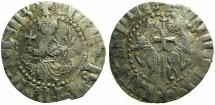World Coins -  CILICIAN ARMENIA.Levon I The Great AD 1199-1219.AR.Tram. ~~~Sigla three dots right field.~#~.Inverted reverse legend.RARE.