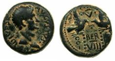 Ancient Coins - PHOENICIA.BERYTUS.Divus Augustus died AD 14 ( struck under Tiberius AD 14-37.) .AE.18mm