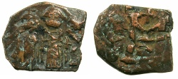 Ancient Coins - PSEUDO BYZANTINE.7th cent AD.AE.Follis.