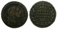 World Coins - ITALY.TUSCANY.ORBETELLO.Ferdinad IV King of Naples-Sicily 1759-1808.AE.4 Quattrini 1782