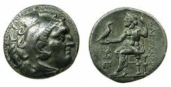 Ancient Coins - MACEDONIAN EMPIRE.Alexander III The Great 336-323.AR.Drachma, posthumus issue circa circa 310-301 BC.Mint of TEOS.
