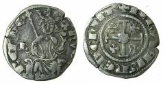 World Coins - CRUSADER STATES.CYPRUS.Hugh IV AD 1324-1359.AR.Gros Petit. Cross at neck, letter B left field.