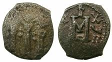 Ancient Coins - BYZANTINE EMPIRE.CYPRUS.Heraclius AD 610-641.AE.Follis, struck AD 626/627.Mint of Constantia?