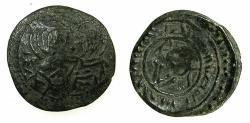 World Coins - ITALY.SICILY.William I AD 1154-1166.AE.Frazione di Follaro.