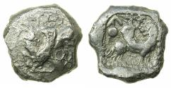 Ancient Coins - CILICIA.URA.AR.Stater circa 5th cent BC. Winged Ibex. Winged lion. ***Unpublished in the standard references.