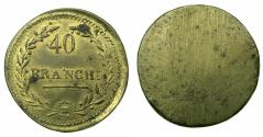 World Coins - ITALY.MILAN.Brass weight for French Gold 40 Francs. circa 1799-1814.