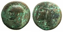 Ancient Coins - JUDAEA.Caesaria Maritima.Domitian AD 81-96.AE. 22.4mm.Judea capta series.