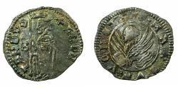 World Coins - VENICE.Andrea Contarini AD 1368-1382.AR.Soldino.2nd Type. Sigla B.
