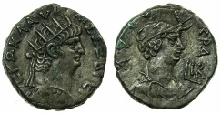 Ancient Coins - EGYPT.ALEXANDRIA.Nero AD 54-68.Billon Tetradrachm, struck AD 65/66.~#~.Detailed bust of Alexandria.