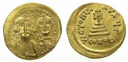 Ancient Coins - BYZANTINE EMPIRE.Heraclius AD 610-641.AV.Solidus.Mint of CONSTANTINOPLE.