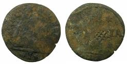World Coins - CRETE, UNDER VENICE.Regno di Candia.AE.1 Soldo N.D. ( circa 1653-1669 ). Reverse. Unpublished lattice countermark.