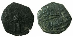 World Coins - CRUSADER STATES.Principality of Antioch.Tancred AD 1104-1112.AE.Follis.3rd type. Standing figure of Saint Peter