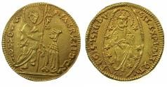 World Coins - CRUSADER STATES.RHODES.Fabricus de Carretto AD 1513-1521.AV.Ducat.