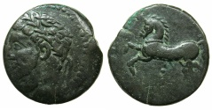 Ancient Coins - NUMIDIA.Massinissa or Micipsa circa 203-148-118 BC.AE.26mm.