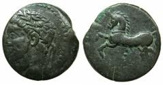 Ancient Coins - NUMIDIA.Massinissa or Micipsa circa 203-148-118 BC.AE.26mm.