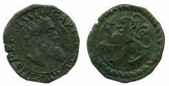 World Coins - SPANISH NETHERLANDS.BRABANT.Charles V H.R.E AD 1524-1555.AE.Courte ( Korte). Struck at Antwerp.1551.