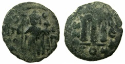 Ancient Coins - PSEUDO BYZANTINE.7th cent AD.AE.Fals, after Constans II AD ( AD 641-669 )