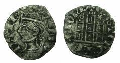 World Coins - SPAIN. CASTILE-LEON, kingdom.Alfonso XI AD1312-1350.Billon.Coronado. Mint of BURGOS.