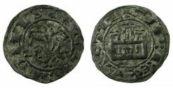 World Coins - SPAIN.Castile and Leon. Alfonso X 1252-1284.Billon.Maravedi Prieto.Uncertain mint.