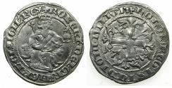 World Coins - ITALY.Kingdom of Naples.Robert 'The Wise' of Anjou AD 1309-1343.AR.Gigliato. Lifetime issue