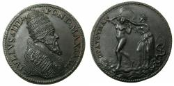 World Coins - ITALY.ROME.Papalcy. Pope Julius III ( Giovanni Maria Ciocchi del Monte ) AD 1150-1555.AE.Medal 33mm, year 3 ( AD 1552/53 )19th or 20th cent.restrike.