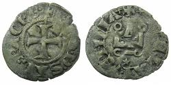 World Coins - CRUSADER STATES. GREECE.Principality of Achaia.Philip of Savoy AD 1301-1307.Bi.Denier.Type 3.