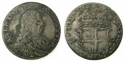 World Coins - ITALY.SAVOY.Coinage for SARDINIA.Carlo Emannuele III AD 1730-1773.Billon.5 Soldi 1738/7.1st Type. Mint of TURIN.