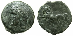Ancient Coins - NUMIDIA.Massinissa or Micipsa circa 203-148-118 BC.AE.25.7mm