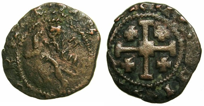 Ancient Coins - CRUSADER STATES.CYPRUS.James II AD 1460-1476.AE.Sezin.