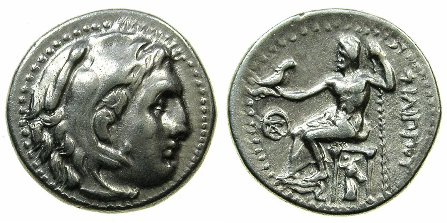 Ancient Coins - MACEDONIAN EMPIRE.Philip III circa 323-316.AR.Drachma.Uncertain mint in Asia.