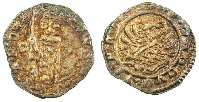 Ancient Coins - ITALY.VENICE.Andrea Contarini AD 1368-1382.AR.Soldino.Sigla D