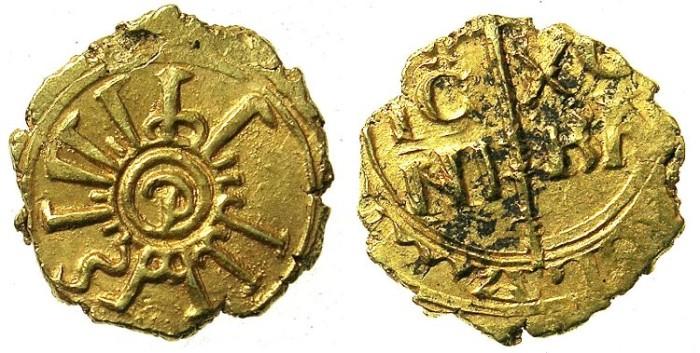 Ancient Coins - ITALY.SICILY.Enrico VI as King of Sicily AD 1194-1197.AV.Tari.Palermo mint?