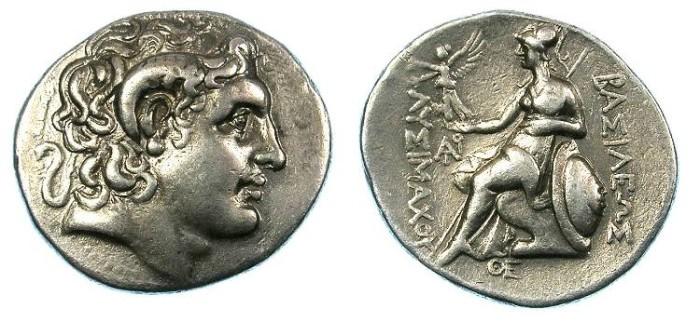 Ancient Coins - THRACE.Lysimachus 305-281BC.AR.Tetradrachm.Mint of Byzantium ?