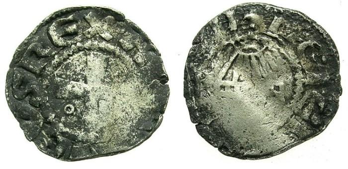 Ancient Coins - CRUSADER.JERUSALEM.Amaury AD 1163-1174.Bi.Denier. Holy sepulchre
