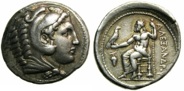 Ancient Coins - MACEDONIAN EMPIRE.Alexander III The Great 336-323 BC.AR.Tetradrachm.Mint of AMPHIPOLIS.****LIFETIME ISSUE*****