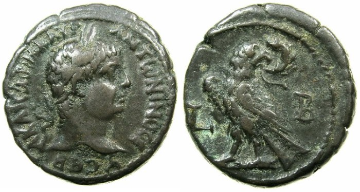 Ancient Coins - EGYPT.ALEXANDRIA.Elagabalus AD 218-222.Billon Tetradrachm, struck AD 218/219.~#~.Eagle.