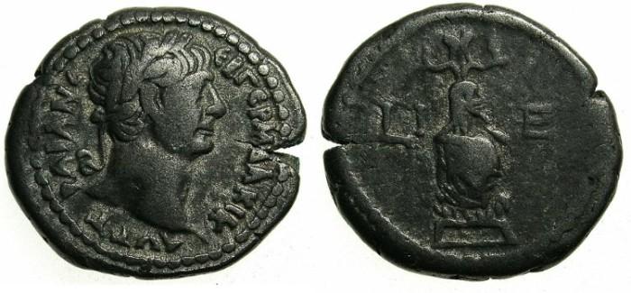 Ancient Coins - EGYPT.ALEXANDRIA.Trajan AD 98-118.Bi.Tetradrachm.AD 111/112.Canopus of Osiris
