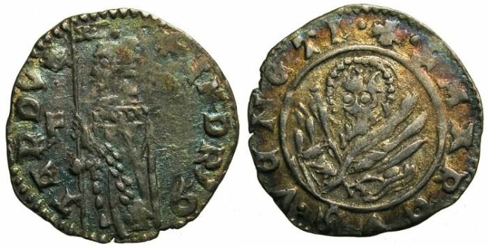 Ancient Coins - ITALY.VENICE.Andrea Contarini AD 1368-1382.AR.Soldino.2nd Type.1st.issue.~~~Sigla F.