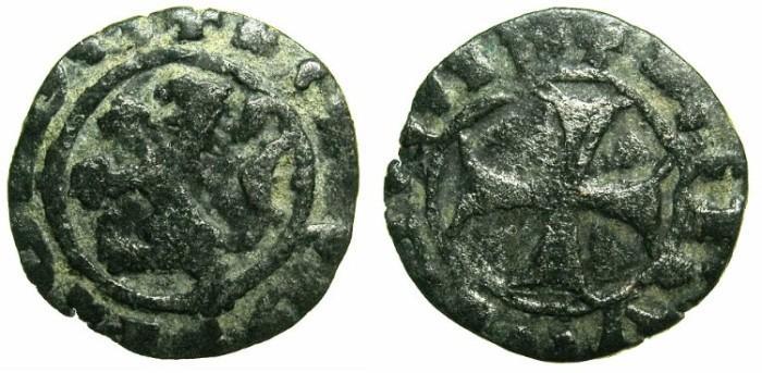 Ancient Coins - CRUSADE STATES.CYPRUS.James I AD 1382-1398.Billon Denier