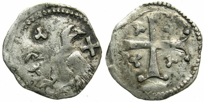 Ancient Coins - WALLACHIA.Dan I AD 1383-1386.Billon Bani ( obol) .Anepigraphic issue.Sigla D or gothic C.