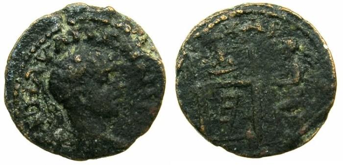 Ancient Coins - DECAPOLIS.CHARACHMOBA.Elagabalus AD 218-222.AE.19.2mm.