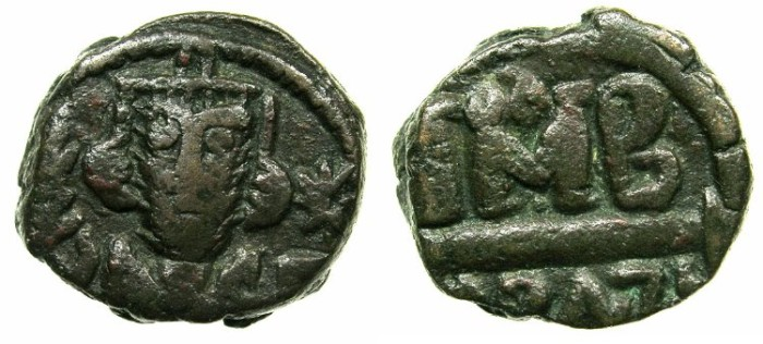 Ancient Coins - ARAB-BYZANTINE.EGYPT under the Arabs AD 642-707.AE.Fals; after Byzantine 12 nummi.