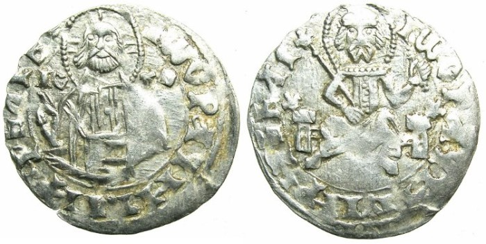 Ancient Coins - BULGARIA.John Stracimar AD 1360-1396.AR.Grosch, heavy issue.