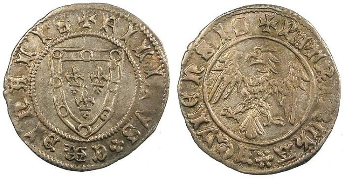 Ancient Coins - ITALY.AQUILEIA.Fillipo of Alencon AD 1381-1388.AR.Denaro.
