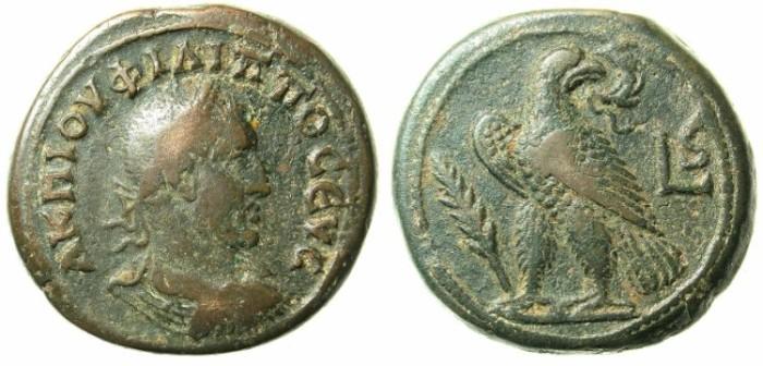 Ancient Coins - EGYPT.ALEXANDRIA.Phillipp The Arab AD 244-249.AE.Drachma.AD 248-249.Eagle