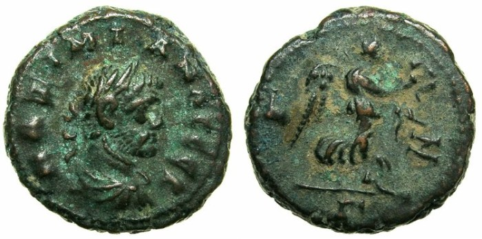 Ancient Coins - EGYPT.ALEXANDRIA.Maximianus Heraclius AD 286-305.Billon Tetradrachm, struck 291/292.~#~Nike flying right.